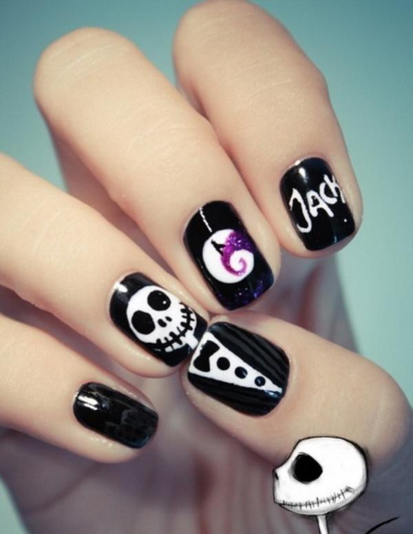 black nail arts (54)