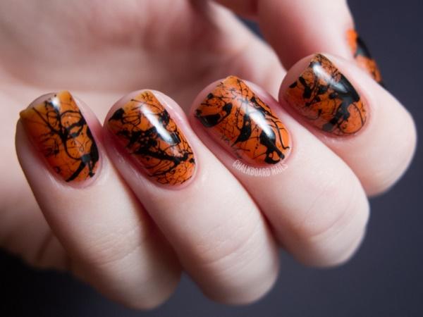 black nail arts (55)