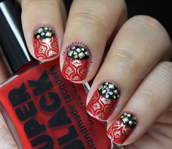 black nail arts (58)