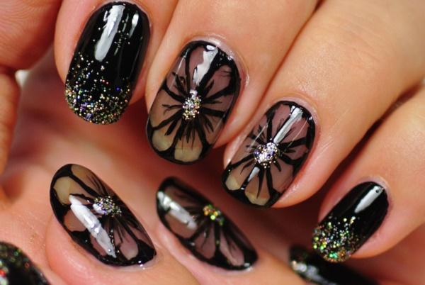 black nail arts (64)