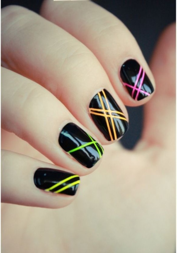 black nail arts (72)