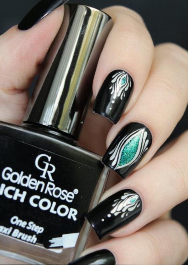 black nail arts (76)