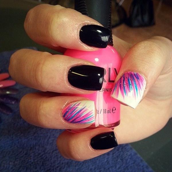 black nail arts (82)