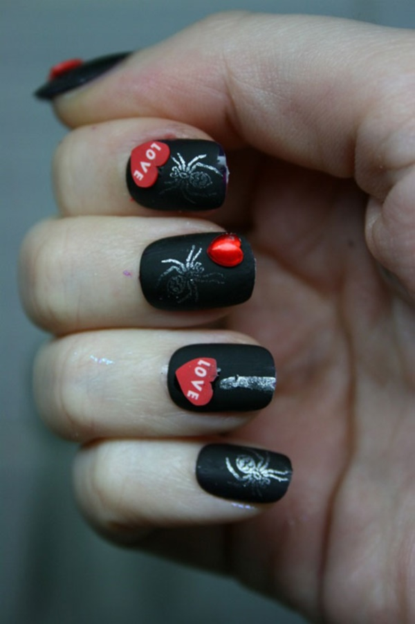 black nail arts (84)