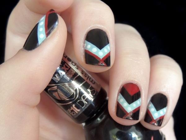 black nail arts (85)