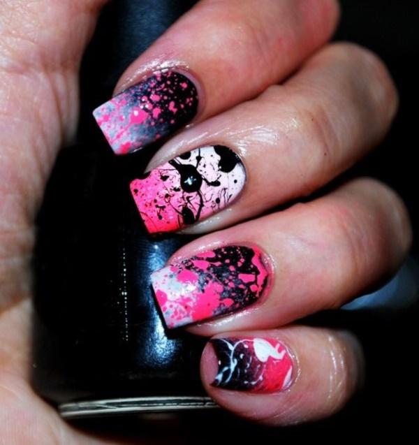 black nail arts (87)