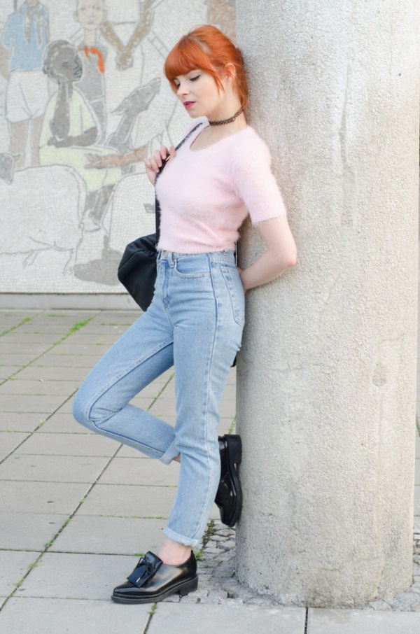 high waisted shorts and jeans outfits (1)