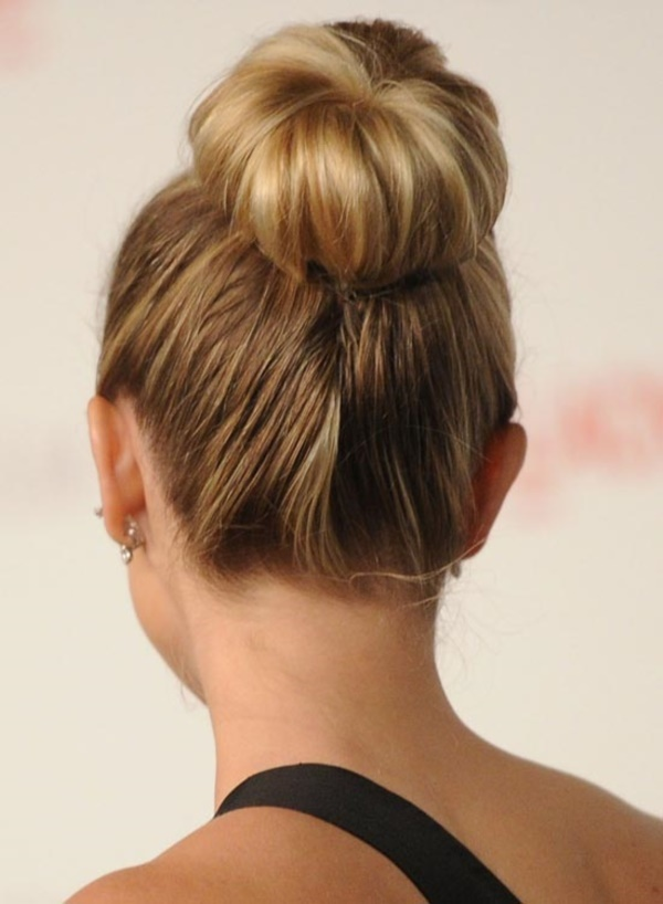 top knot bun Hairstyles (10)