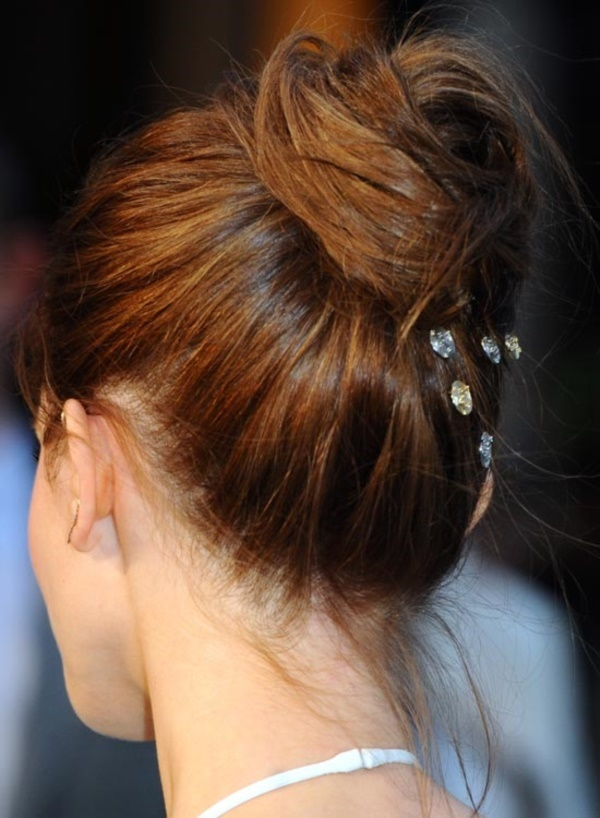 top knot bun Hairstyles (12)