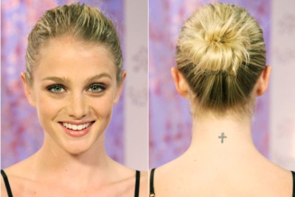 top knot bun Hairstyles (16)