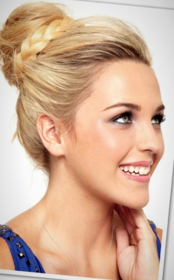 top knot bun Hairstyles (49)
