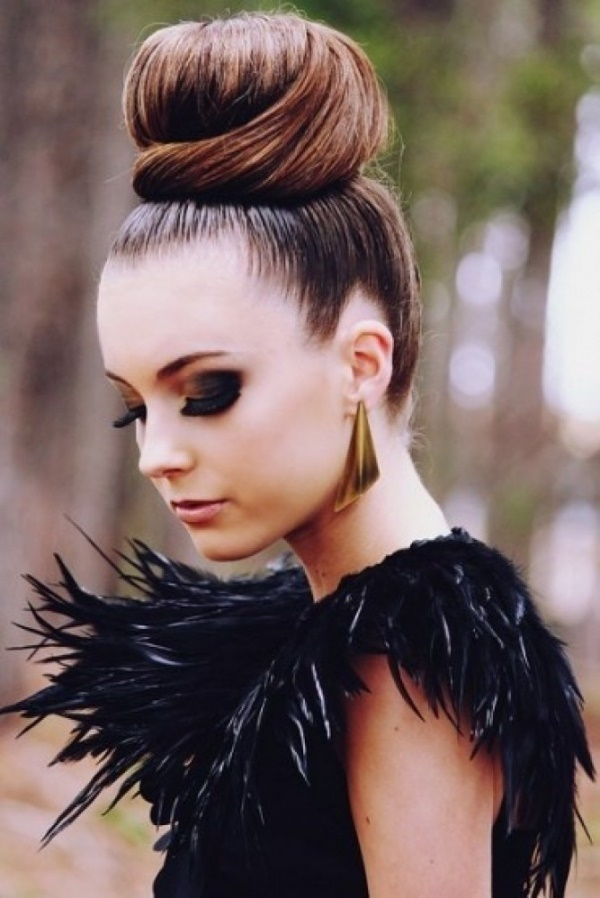 top knot bun Hairstyles (56)