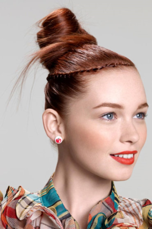 top knot bun Hairstyles (72)