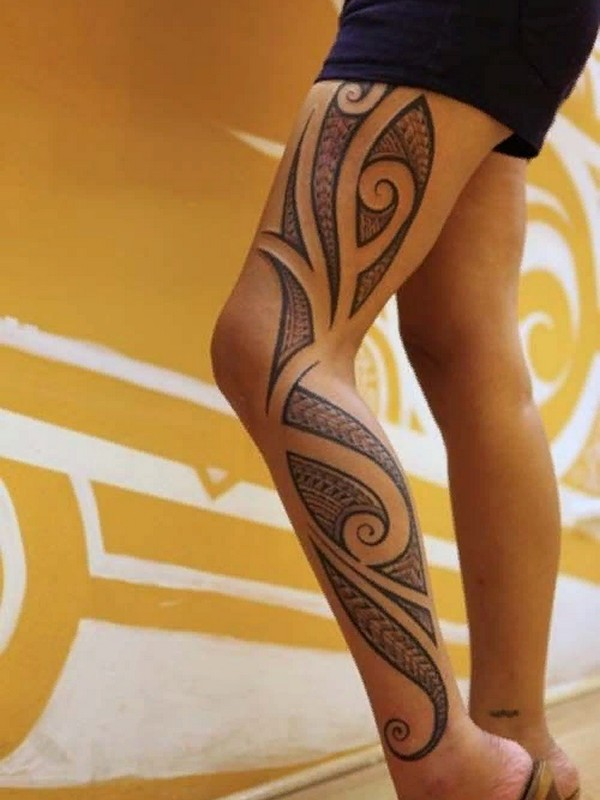 Popular Female Tattoo Designs For The Lower Body And Legs